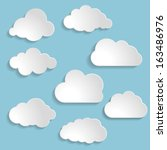 Vector illustration of clouds collection  | Shutterstock vector #163486976