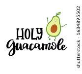cute avocado character icon... | Shutterstock .eps vector #1634895502