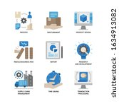 business process outsourcing... | Shutterstock .eps vector #1634913082