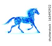 Raster Version. Blue Fire Hors...