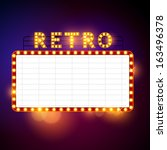 retro billboard waiting for... | Shutterstock .eps vector #163496378
