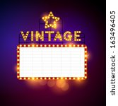 retro billboard waiting for...   Shutterstock .eps vector #163496405