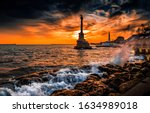 Monument To Sunken Ships In...