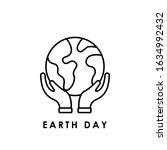 earth day icon logo vector...