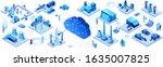industrial internet of things... | Shutterstock .eps vector #1635007825