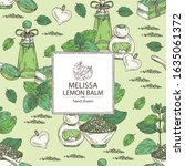 background with melissa  plant... | Shutterstock .eps vector #1635061372