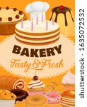 desserts  cakes and pastry... | Shutterstock .eps vector #1635072532