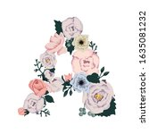 """letter """"a"""" made of flowers.... 