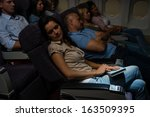 Flight Passengers Sleeping...