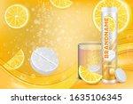 effervescent vitamin c tablets... | Shutterstock .eps vector #1635106345
