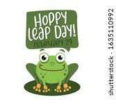 hoppy leap day   leap year 29... | Shutterstock .eps vector #1635110992