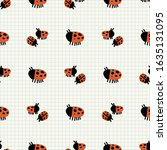Cute Ladybug Bug Group Seamles...