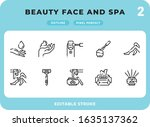 beauty face and spa outline...