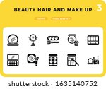 beauty hair and make up glyph...