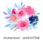 spring flowers decoration.pink... | Shutterstock . vector #1635147538