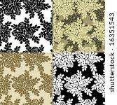 roses seamless vector...   Shutterstock .eps vector #16351543