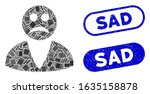 mosaic sad user and corroded...   Shutterstock .eps vector #1635158878