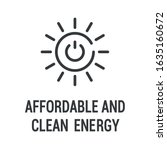 affordable and clean energy...