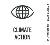 climate action black icon....