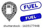 mosaic fuel station marker and... | Shutterstock .eps vector #1635177448
