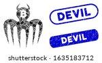 mosaic bitcoin spectre devil... | Shutterstock .eps vector #1635183712