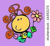 clip art girl | Shutterstock .eps vector #16352173
