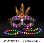 Masquerade Mask  Beads ...