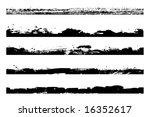 a set of grunge edges  as a... | Shutterstock .eps vector #16352617