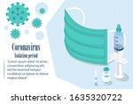 quarantine landing page.... | Shutterstock .eps vector #1635320722