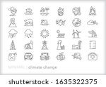 set of 30 climate change line... | Shutterstock .eps vector #1635322375