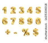 Set Of Golden 3d Vector Numbers....