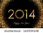 vector   2014 happy new year... | Shutterstock .eps vector #163534148