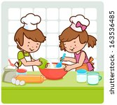 Children Cooking In The Kitche...