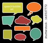 set of speech bubbles in flat... | Shutterstock .eps vector #163537772