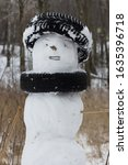 Snowman Decorated By Cars Tires ...