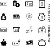 cash vector icon set such as ...