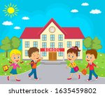 kids   boy and girls  going to...   Shutterstock .eps vector #1635459802