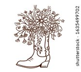 Cowboy Boot With Flowers...