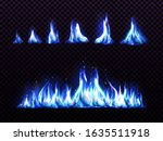 Realistic Blue Fire Set For...
