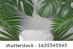 luxury and monstera  palm... | Shutterstock . vector #1635545545