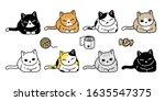 cat vector icon kitten calico... | Shutterstock .eps vector #1635547375