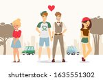gay couple coming out  upset...   Shutterstock .eps vector #1635551302