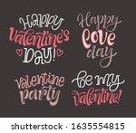 happy valentine's day vector... | Shutterstock .eps vector #1635554815