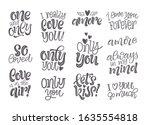happy valentine's day vector... | Shutterstock .eps vector #1635554818
