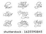 romance set lettering...