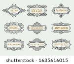 art deco labels. frames vintage ... | Shutterstock .eps vector #1635616015