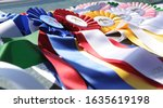 Horse Show Ribbons Laying On...