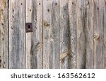Old Wooden Gate Closeup