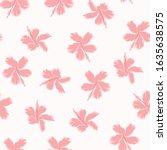 seamless exotic tropical flower.... | Shutterstock .eps vector #1635638575
