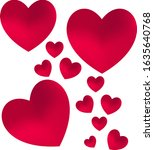 illustration of hearts  with... | Shutterstock .eps vector #1635640768